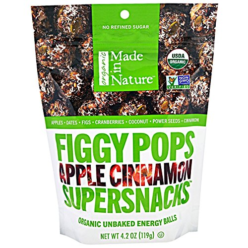 Made in Nature Figgy Pops Apple Cinnamon Organic, 4.2 oz