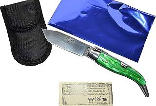 Couteau Celaya Classic Albacete Aluminium Pastora Plastique Vert 8 cm