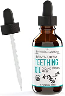 Sponsored Ad - Certified Organic Teething Oil - Ease Pain, Swelling & Discomfort Quickly & Effectively - Natural Vegan Bot...