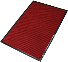 fani Heavy Duty Large Outdoor Indoor Entrance Doormat Red Waterproof Low Profile Entrance Rug Front Door Mat Patio Anti-Sk...