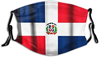 BYJHMB Flag-dominican-republic-on-fabric-1037157619src=nooQ39pvuMoRQwSSmXPVtQ-3670-23 Cotton Washable Nose Wired Face Cover Filter Pocket Wide Cover with Filter