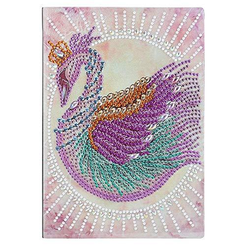 snowvirtuos Cuaderno de bocetos con forma especial de cisne DIY 50 páginas A5