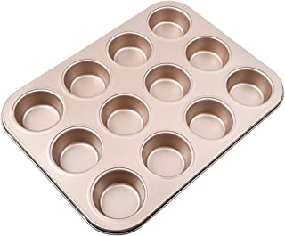 Non-Stick Muffin Pans,Whoopie Baking Pan Premium Nonstick & Quick Release Coating Non-Stick Bakeware -12 Cavity