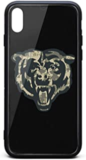 Black Camouflage Camo Army Veterans Day Back Cover Phone Case for iPhone Xs max Iphonexs max Fashion TPU Shockproof Anti-Scratch Non-Slip 3D Printed PC