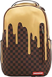 Sprayground Unisex-Adult Gold Checker Drips Backpack One