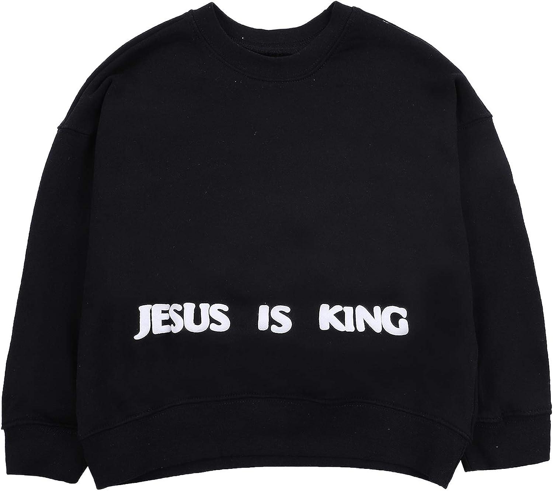 NAGRI Kanye Jesus is King Chicago Crewneck Sweatshirt for Kids Unisex Long Sleeve Pullover Hoodie