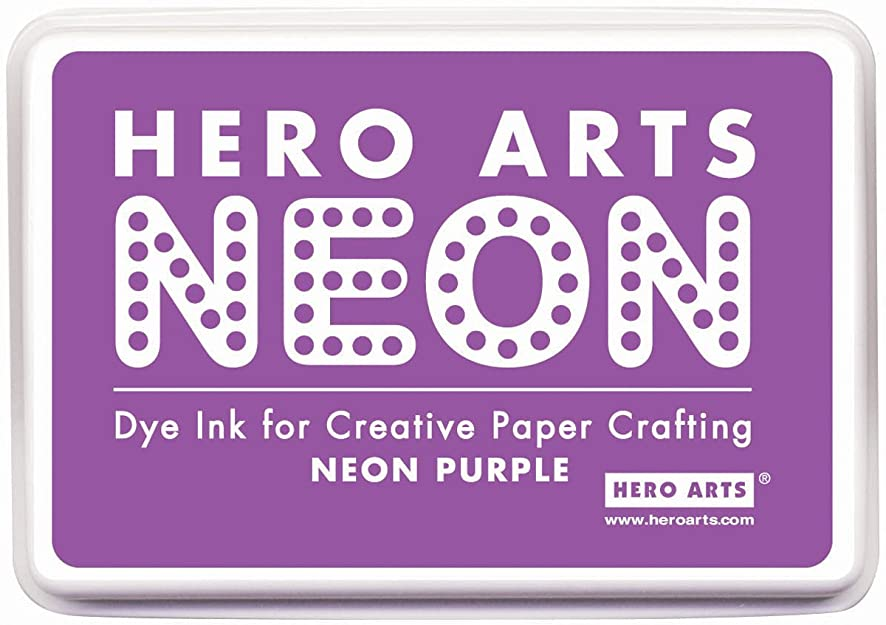 Hero Arts Rubber Stamps Neon Ink Stamp Pad, Purple