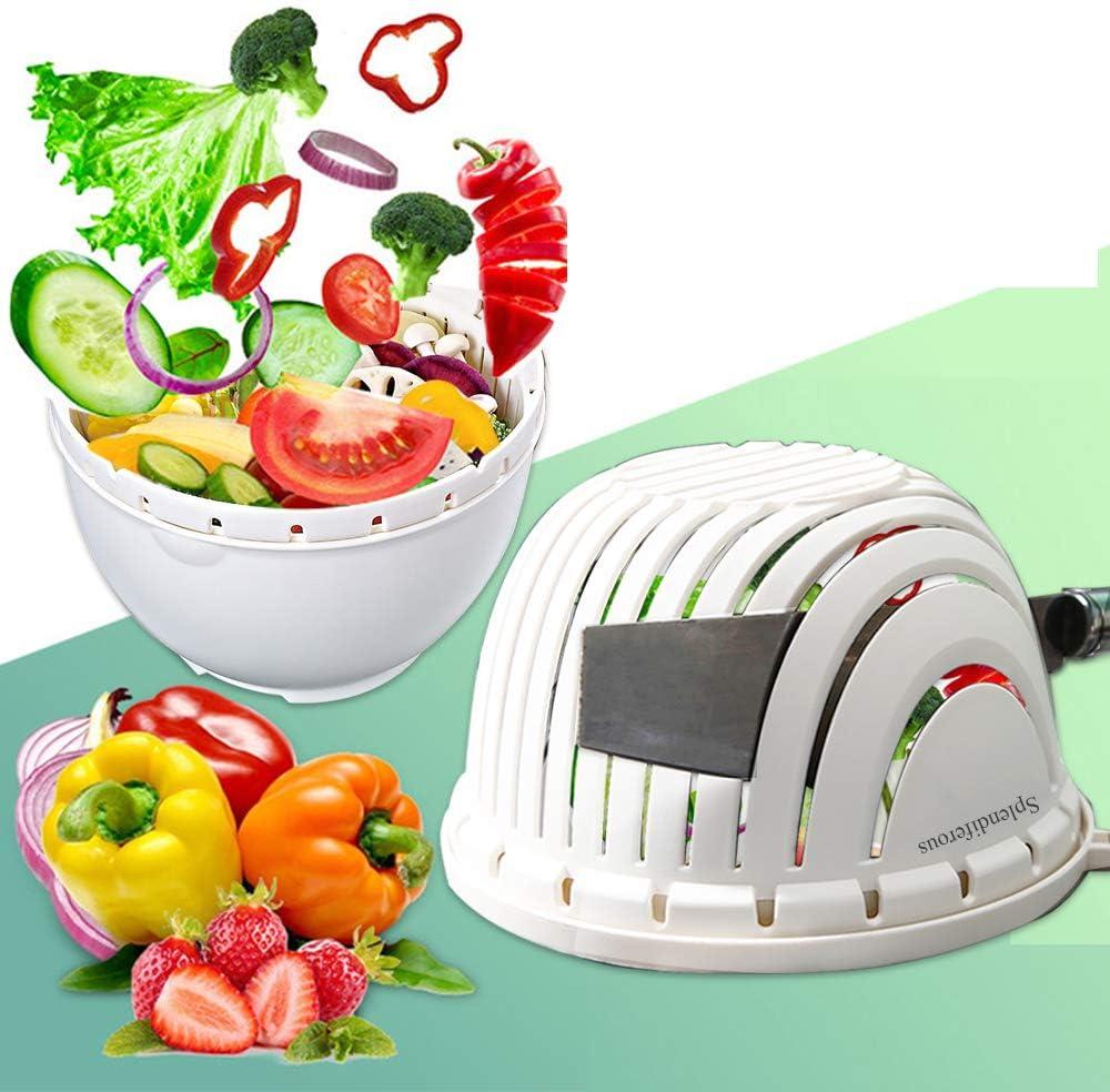 Salad Cutter Bargain Bowl Topics on TV Upgraded Easy Fruit Fast Speed Maker Veg