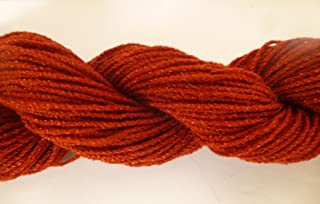 Rust Reddish Brown Acrylic Blend Stretch Knit Fingering Novelty Yarn