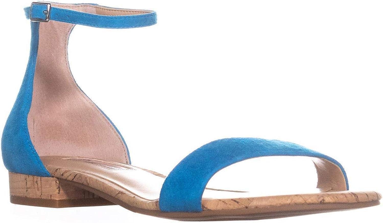 INC International Concepts Womens Yaffa Leather Open Toe, Cali Teal, Size 6.0
