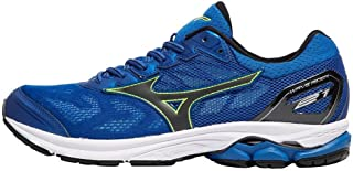 MIZUNO J1GC180310 WAVE RIDER 21 Men's Running Shoes, Classic Blue/Black