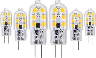 Vicloon G4 LED Lampadina, 6 Pezzi 2W AC/DC12V Lampadina Equivalenti a 15W Lampada Alogena, Bianco Caldo 3000K, 130 lumen, ...