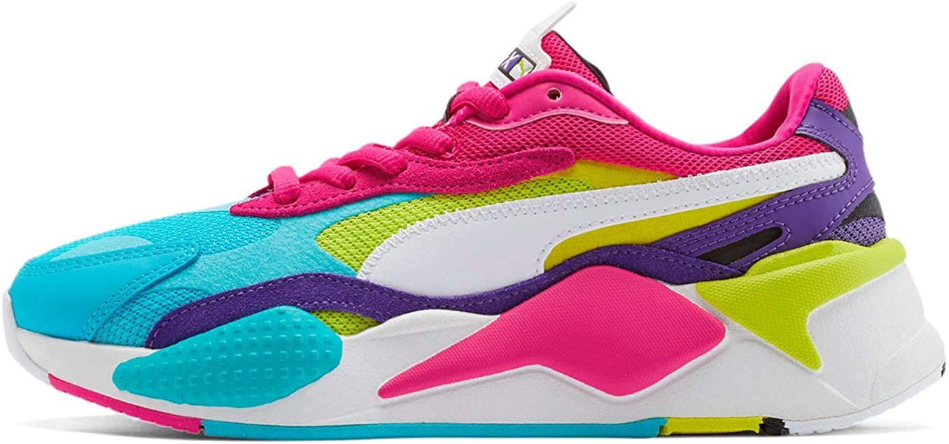 PUMA Womens Rs-X3 Puzzle Sneakers Shoes - Purple