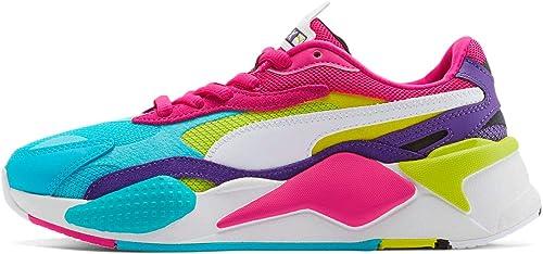 Amazon.com | PUMA Womens Rs-X3 Puzzle Sneakers Shoes - Purple ...