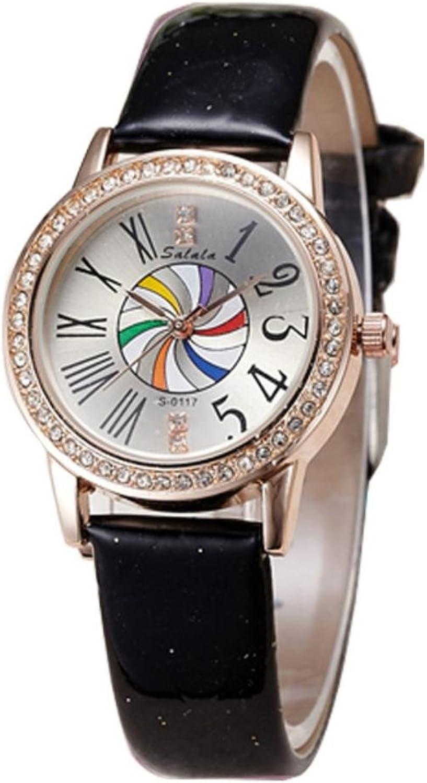 XM New ladies diamond alloy waterproof ladies diamond vintage Dial Watch watch , black