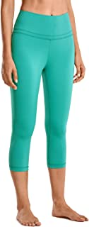 Women's Naked Feeling High Waist Crop Capri Tummy Control Running Leggings Yoga Pants -19 Inches