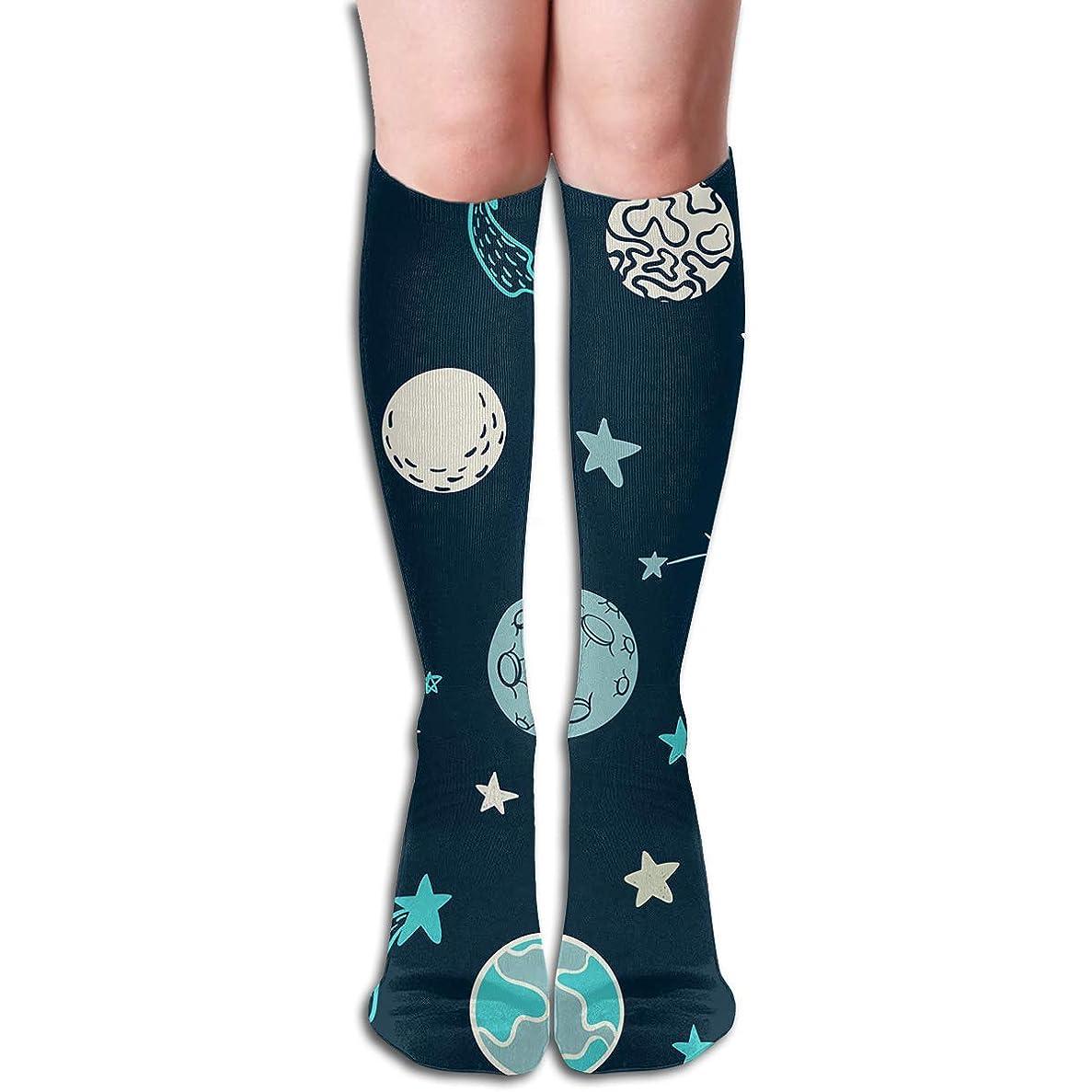 スポットミシン目飢えqrriyスペースチューブストッキングレディース冬暖かい膝ハイソックスブーツ靴下