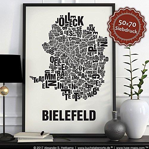 Bielefeld Buchstabenort Schwarz auf Naturweiß