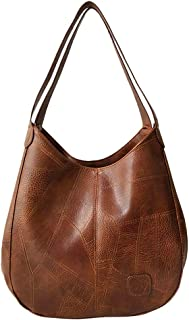 Wultia - Bag Women Fashion Women's Soft Leather Shoulder Bag Multi-Function Large Hand Bag Bolsa Feminina *0.92 Brown
