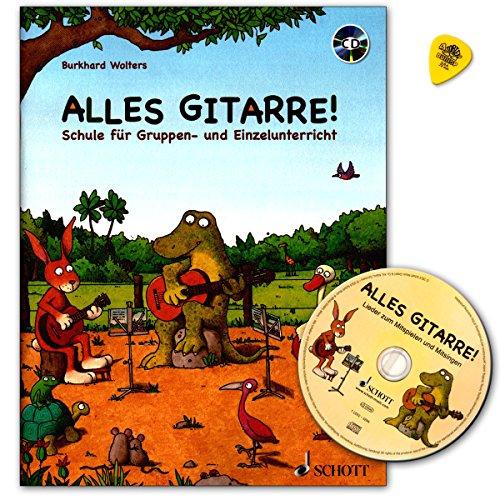 Alles Gitarre! -Gitarrenschule von Burkhard Wolters für Gruppen- und Einzelunterricht mit CD und Dunlop Plek/Schott Music ED21710-50 9783795747916
