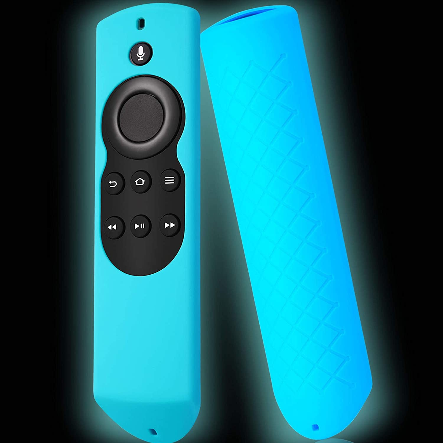 Packzprint Firestick Cover Compatible with Amazon Fire Stick Remote, Cover for Fire Stick Remote Control Glow in The Dark, Firestickremote Cover Glow Blue