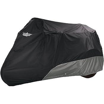 UltraGard 4-462BC Black//Charcoal Bagger Fixed Fairing Motorcycle Cover