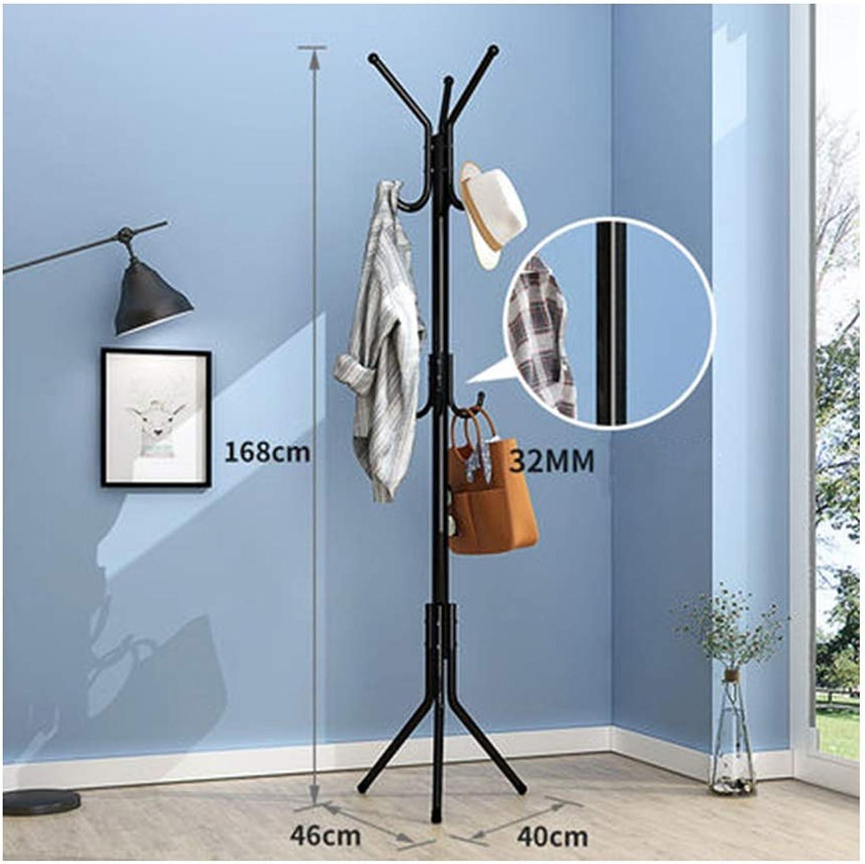 Nwn Home Bedroom Multi-Function Floor Hanger Simple Package Creative Single Rod Hanger Coat Rack (color   Black)