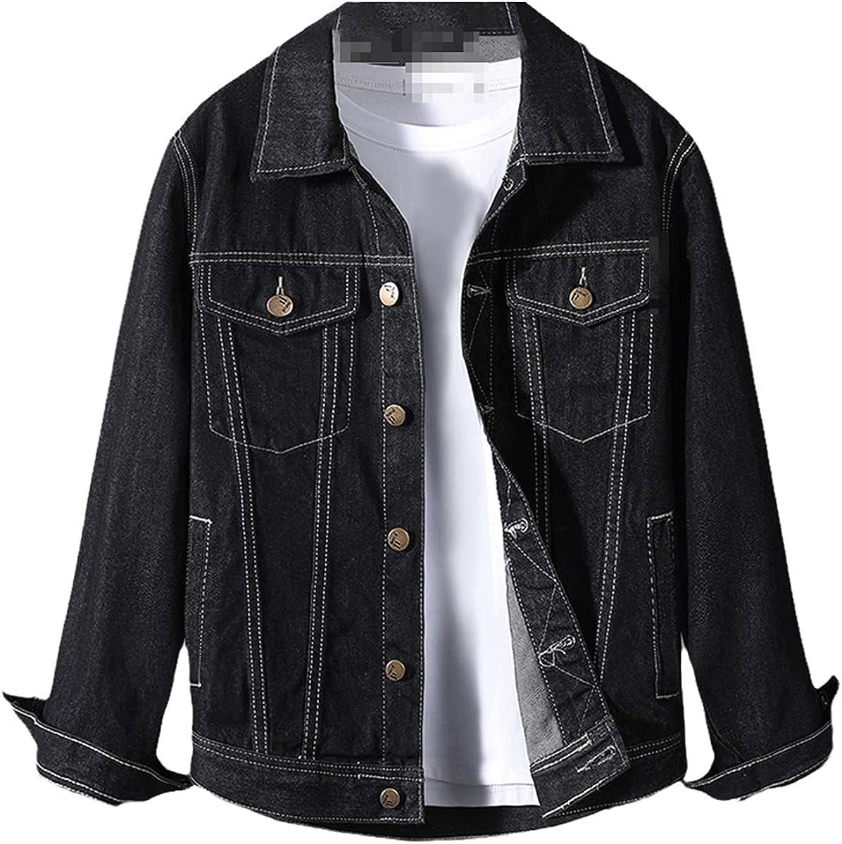 Spring Men's Denim Jacket Male Korean Style Trendy Handsome Outerwear Student Jacket