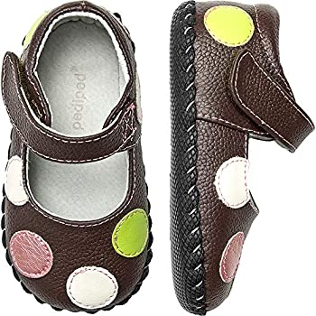 pediped Originals Giselle Mary Jane Crib Shoe  Infant ,Chocolate Brown,Small  6-12 Months