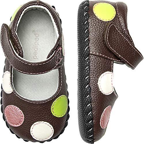 pediped - Giselle - Premières Chaussures de Marche bébé Fille, Marron (Chocolate Brown), 0-6 Mois