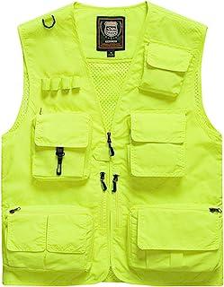 Men's Sports 15-Pocket Utility Vest Waistcoat Gilet Outdoor Quick Dry Fishing Photography Casual Vest Jacket Sleeveless Ja...