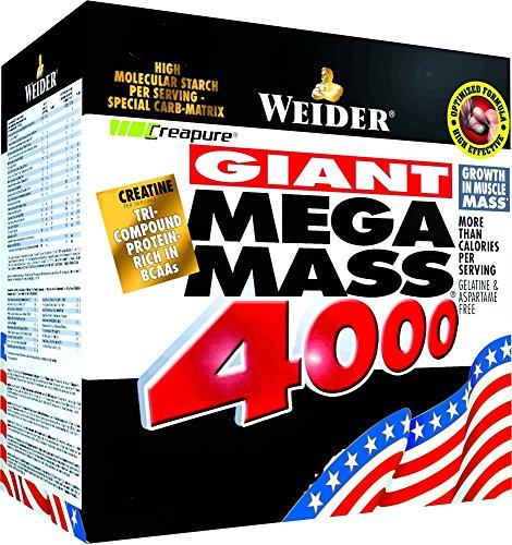 Weider Giant Mega Mass 4000, Vaniglia, 4 kg