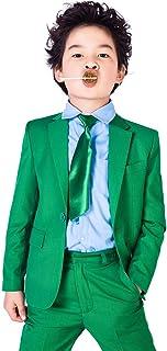 xomoflag Boys '花フォーマルスーツステージWearウェディングパーティーKid ' sキャンディグリーン