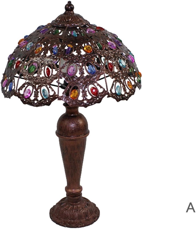Guo Europäische Art Leuchten Leuchten Leuchten Schlafzimmer Nachttischlampe Eisen Plexiglass Hand-Perlen E14 Lampe Port (Farbe    A) B01NAEPRPA | Feine Verarbeitung  1d71c6