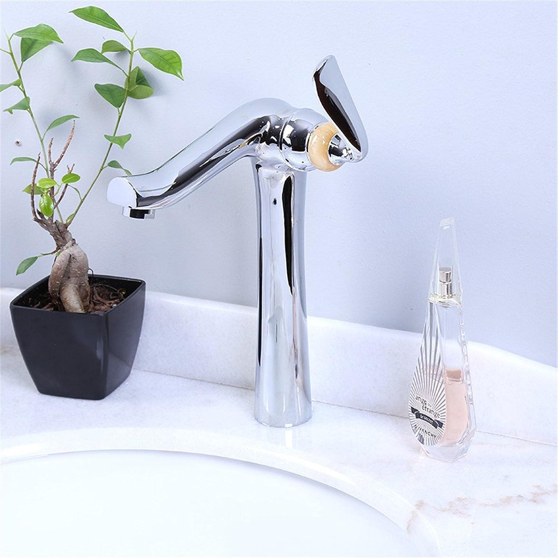 Bijjaladeva Wasserhahn Bad Wasserfall Mischbatterie Waschbecken Armatur für Das Kupfer heie und Kalte Waschbecken Waschbecken Einzelne Bohrung Bad Faucet Single-Wasseranschlu abg