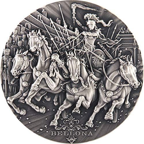 calidad fantástica Power Coin Bellona Bellona Bellona Roman Gods 2 Oz Moneda plata 2  Niue 2018  bajo precio