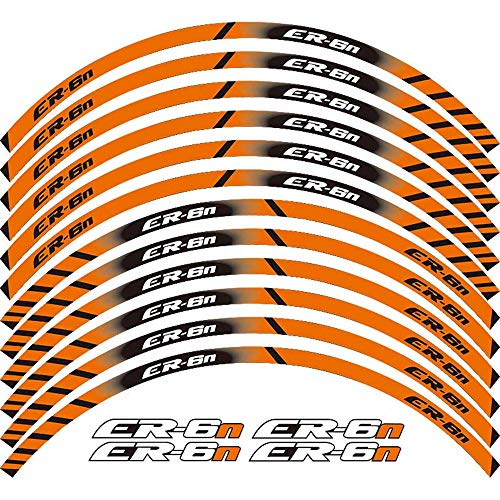 12 tiras motocicleta llanta rueda rueda pegatina reflectante Moto Racing Accesorios llanta decoración calcomanía para Kawasaki EN-6R
