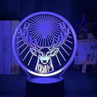 Lámpara De Ilusión 3D Luz Nocturna Led Jagermeister Atmósfera Colorida Control Táctil Luz De Noche Con Batería Para Decoración De Bar Escritorio Usb Wine Sign