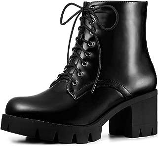 Women's Platform Chunky Heel Combat Boots