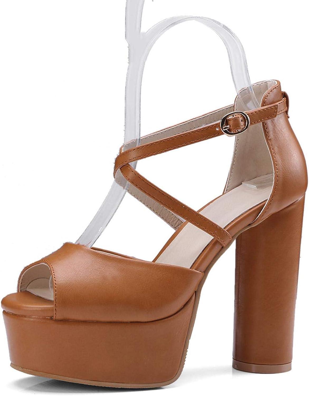Fashion Peep Toe Summer Elegant Platform Women High Heels