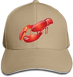 Unisex Sandwich Peaked Cap Lobster Logo Fashion Design Adjustable Cotton Baseball Caps Hats Black