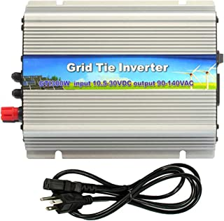 iMeshbean 300W 300 Watt Micro Grid Tie Power Inverter DC 10.5-30V -AC 110V Solar MPPT Pure Sine Wave for Solar Panel System