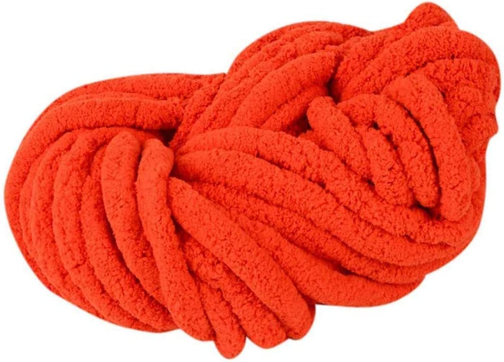 Philadelphia Mall ZUIBESCHOS Chenille Yarn Orange 35.2OZ Knit 70% OFF Outlet Arm for Chunky