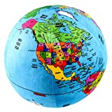 Attatoy Love-The-Earth Plush Planet Globe; 13' Educational World Stuffed Toy with Geo-Political Markings