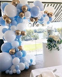 Balloon Garland Kit Blue White Gold Chrome Balloon Arch Wedding Bridal Shower Birthday Party Baby Shower Decoration