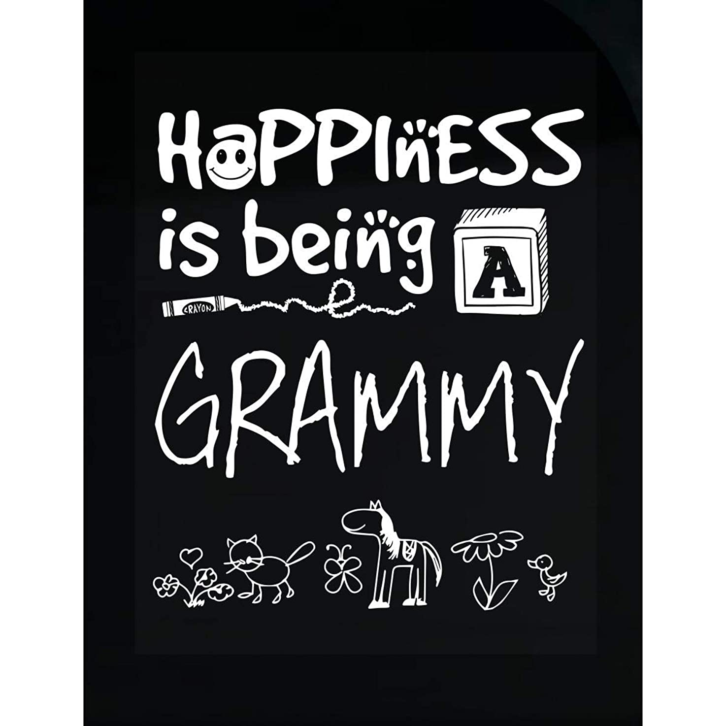 KewlCover Happiness is Being A Grammy - Grandmother - Transparent Sticker