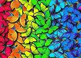 EACHHAHA 1000 Piezas Puzzle,Mariposa de Color Puzzles para Adultos, 70x50CM,Rompecabezas de Piso Juego de Rompecabezas y Juego Familiar