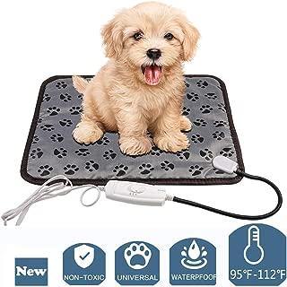 egosopp Pet Heat Pad 20''x15'', Warm Pad for Dogs Cats Waterproof Electric Heat Mat Chew Resistant