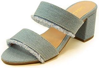 Tamanco Salto Baixo Grosso Luiza Sobreira Jeans Claro Mod. 4006-2