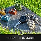 Schlüsselanhänger Klettergriff/Boulderstein mit Karabiner für Kletter- und Outdoorfans